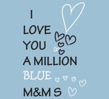 I Love You A Million Blue M &Ms by PlanBee