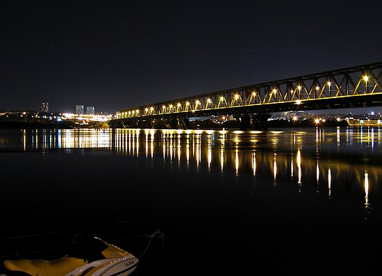 Bridge on Danub river by Aleksandar Topalovic