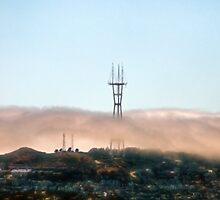 Sutro Tower In The Fog by Bob Wall