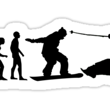 Ski Evolution Sticker