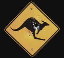 Kangaroo road sign by PETER CULLEY