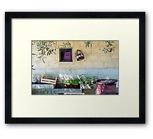 Pachino Tomato Growers Front Yard Framed Print