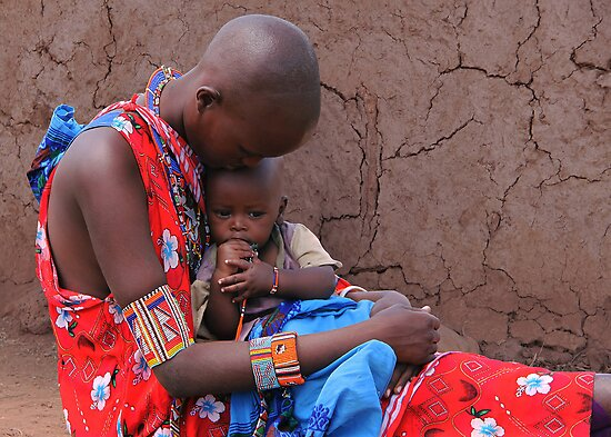 MOTHER AND CHILD - KENYA by Michael Sheridan