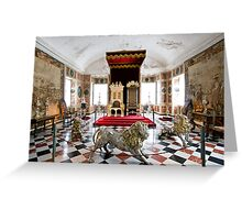 Royal throne room Greeting Card