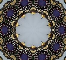 Enamelled Purple Bead Kaleidoscope by Erica Long