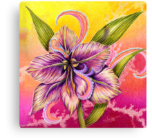 The Paisley Amaryllis Canvas Print