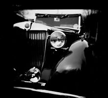 Vintage car on film by Angela Ward-Brown