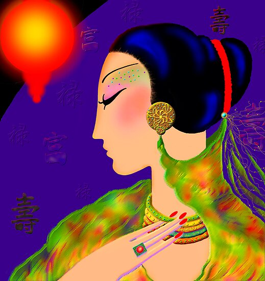 'Shanghai' Lady of Mystery  by luvapples downunder/ Norval Arbogast