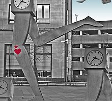 Running Clocks - Buchanan Bus Station Glasgow Scotland by simpsonvisuals