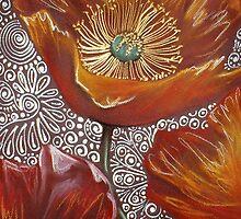 Fiery Red Poppies by Cherie Roe Dirksen