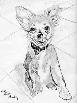 Papillon Pup by Linda Costello Hinchey
