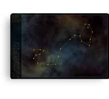 Scorpio zodiac Canvas Print