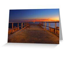 North Beach Jetty  Greeting Card