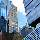 Another View 42nd and 8th, Times Square District, Manhattan, N.Y. by joan warburton