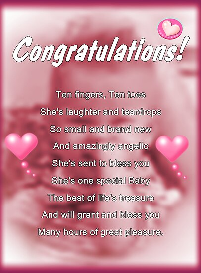 Greeting cards by tracy devore portfolio new baby girl