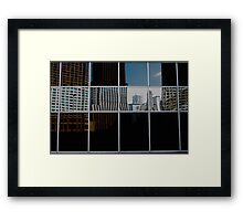 REFLECTIVE PATCH WORK  Framed Print