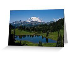 Mt. Rainier and Tipsoo Lake (Mt. Rainier National Park) Greeting Card
