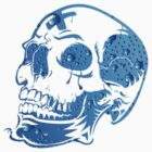 Bluebubble Skull by eleni dreamel