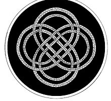 073 - CELTIC KNOTWORK - DAVE EDWARDS - PEN & INK - 1983 by BLYTHART