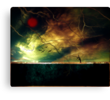 The poetry of earth when heaven sings Canvas Print