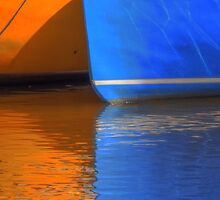 hdr reflection boats yellow blue by Jamie Roach