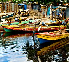 Jamaican fishing boats  by Mountainimage