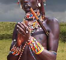 SAMBURU WARRIOR - KENYA by Michael Sheridan