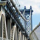 Entrance to Manhattan Bridge by joan warburton