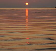 Sundown Slave Lake  by Judy Grant