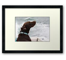 Ahhhh.....  The Wind in My Hair Framed Print