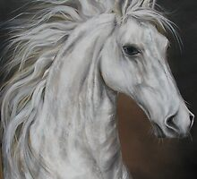 "White Horse ""Higher Mind""   by JeffeeArt4u"