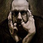 Self Portrait in Charcoal by Derek Sullivan