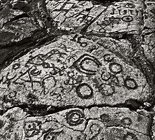 Hawaiian petroglyphs II by Yves Rubin