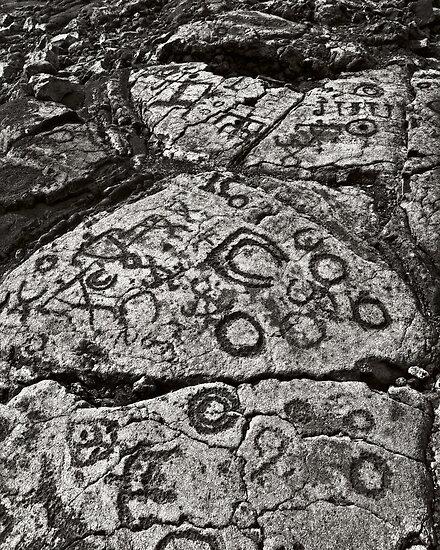 Quot hawaiian petroglyphs ii by yves rubin redbubble
