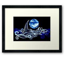 Lunar Sailing Framed Print