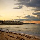 Sunset at Manly Beach, Sydney June 2009 by Gayan Benedict
