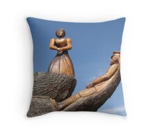 The Lady & the Sailor Throw Pillow
