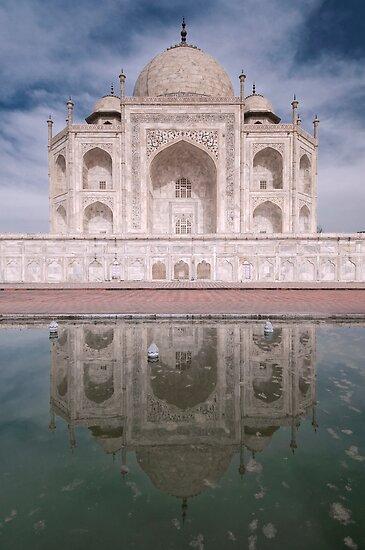 Reflections Of Love, The Taj Mahal, Agra, India. by Darren Newbery
