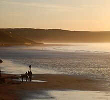 The Beach at Whitby, in the Evening Sun by dougie1page2