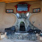 Earthship fireplace by CjbPhotography
