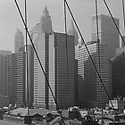 New York From the Brooklyn Bridge by Roger Miller