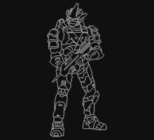 Spartan Pixel Art Halo 3 White by Freshmilk
