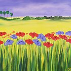 Field of flowers by Linda B