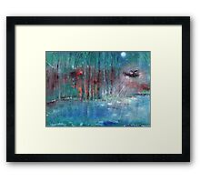 Black hawk helicopter chasing  a UFO   Framed Print