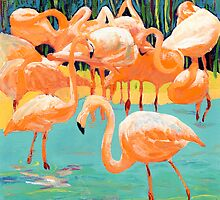 Flamingo's by RDRiccoboni