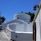 White church in Lindos, Rhodes by Littlest