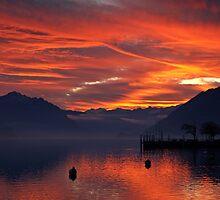 Winter sunset, Brienz, Switzerland by Mark Howells-Mead