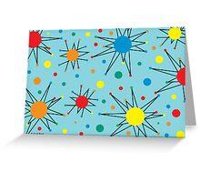 Retro Star - card Greeting Card