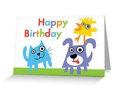 Critter Love Birthday - card Greeting Card