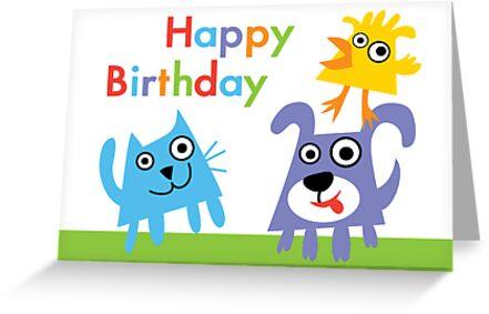 Critter Love Birthday - card by Andi Bird
